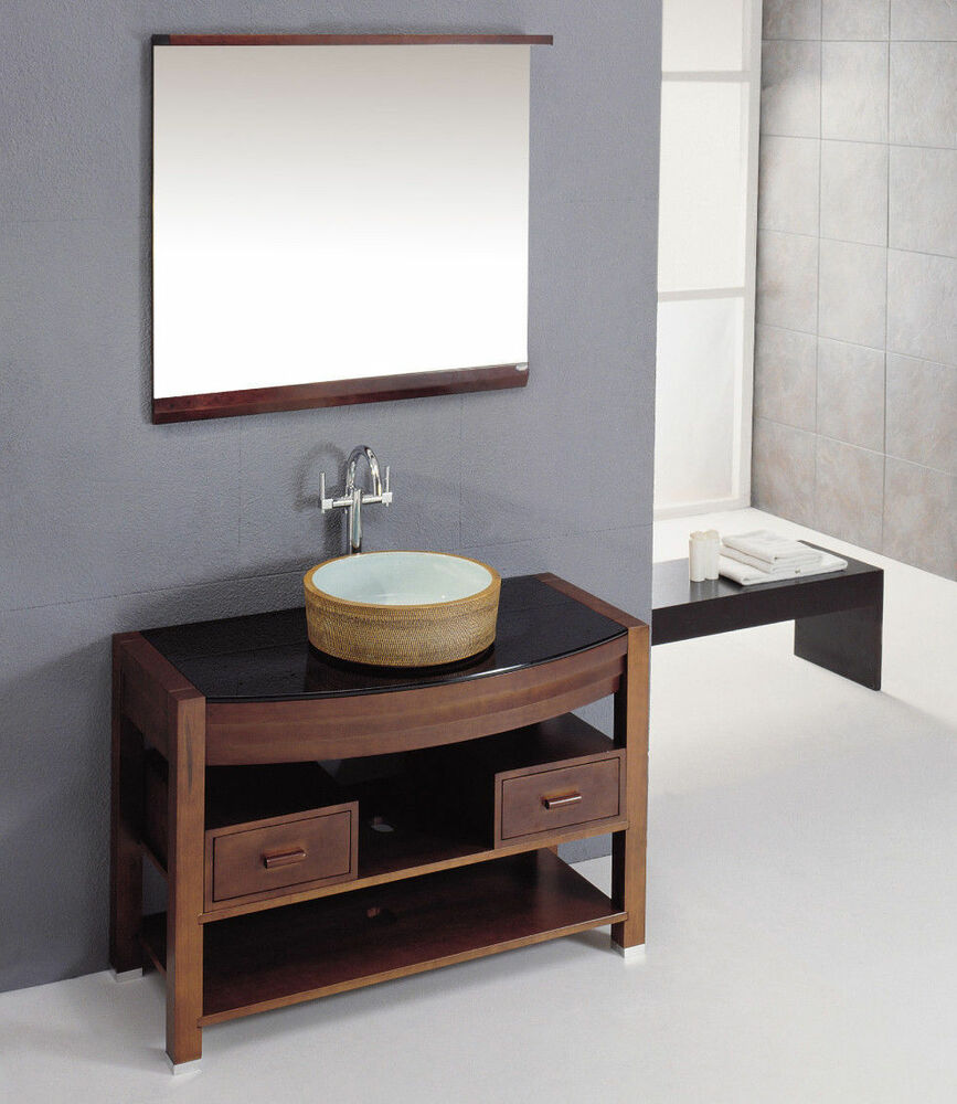 Antique Oak Finish Solid Wood Constructed Home Bathroom Vanity Set with Sink  eBay