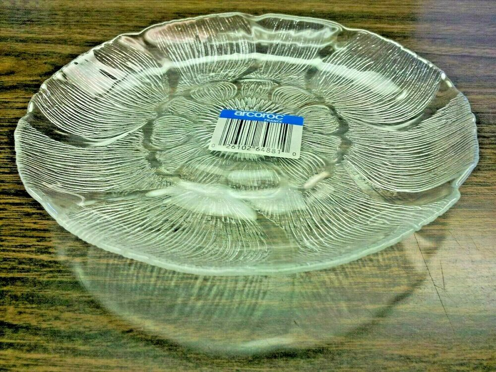 7 Quot Clear Arcoroc Glass Salad Plate Six In Pack Wedding