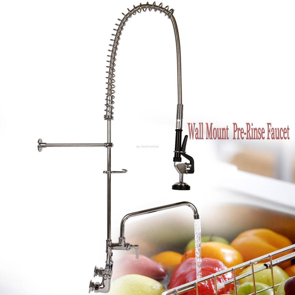 Commercial Wall Mount Pre Rinse Faucet W 12 Quot Add On Sink