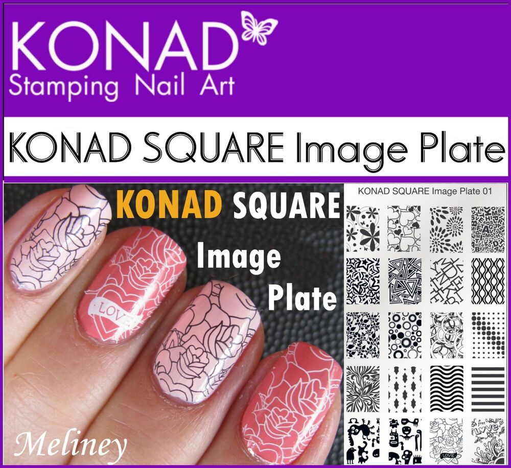 KONAD SQUARE Image Plates for Stamping Nail Art Designs 1 2 3 4 6 7 8 9 10 - 21 | eBay