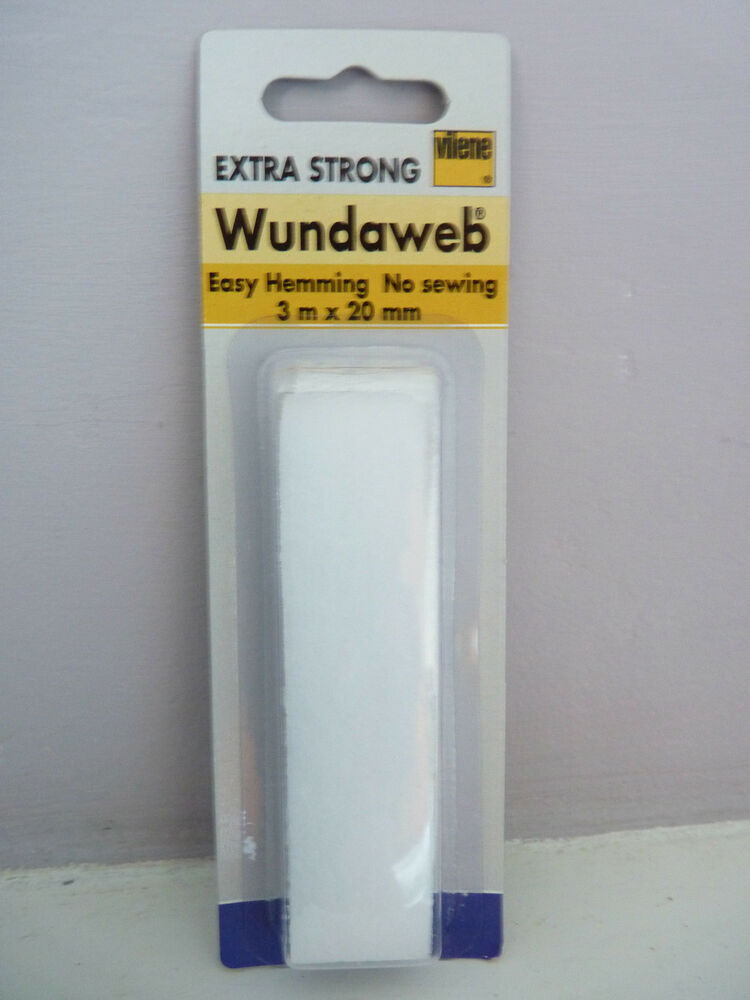 wundaweb easy hemming tape extra strong 3 metres x 20mm iron on hem no sewing ebay. Black Bedroom Furniture Sets. Home Design Ideas