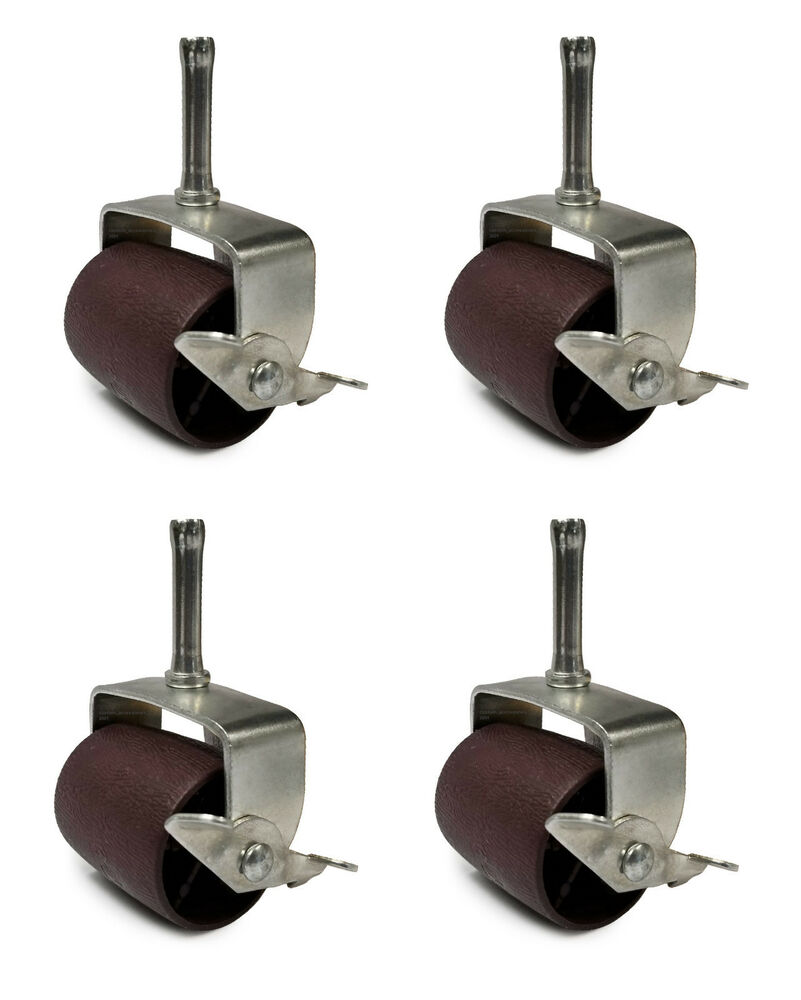 Casters for bed frame adjustable high rise casters bed frames w risers thesleepshop set of 4 - Bed casters lowes ...