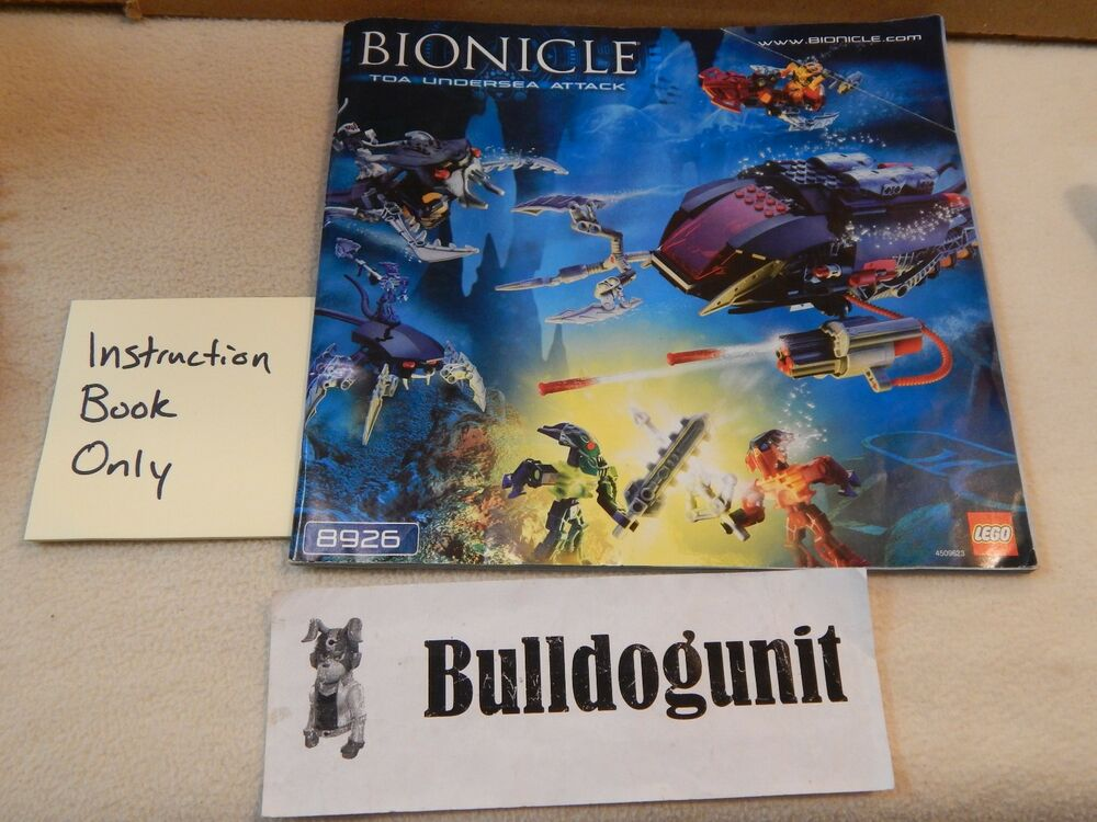Lego Bionicle 8926 Toa Undersea Attack Instruction Book Only No