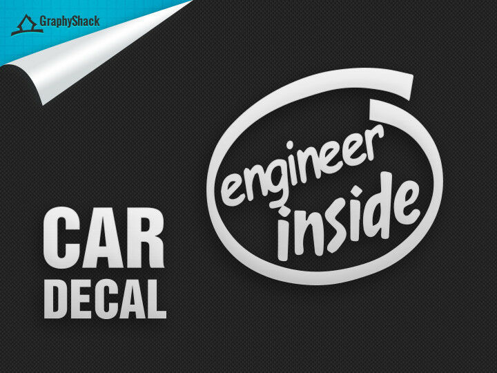 Engineer Inside Vinyl Car Decal Funny Decals Stickers For