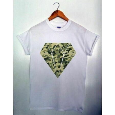 img-Diamond Camouflage MENS & WOMENS T-shirt S-XXL SWAG HIPSTER ARMY CAMO