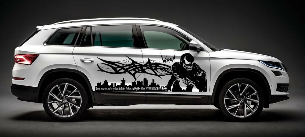 Spiderman Venom With Tribal Spider Web Decal Graphic Vinyl