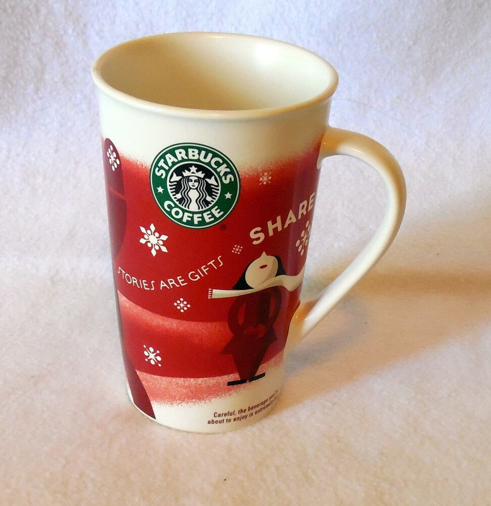 Starbucks Holiday Coffee Mug Cup 2010 Tall Ceramic Ebay
