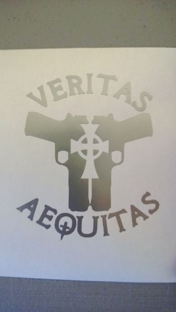 Veritas Aequitas Pistols With Celtic Cross Bds Inspired