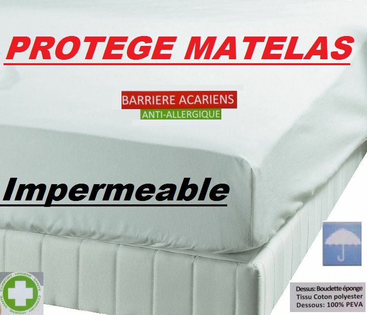 al se prot ge matelas imperm able anti acariens 4 tailles 90 140 160 ebay. Black Bedroom Furniture Sets. Home Design Ideas