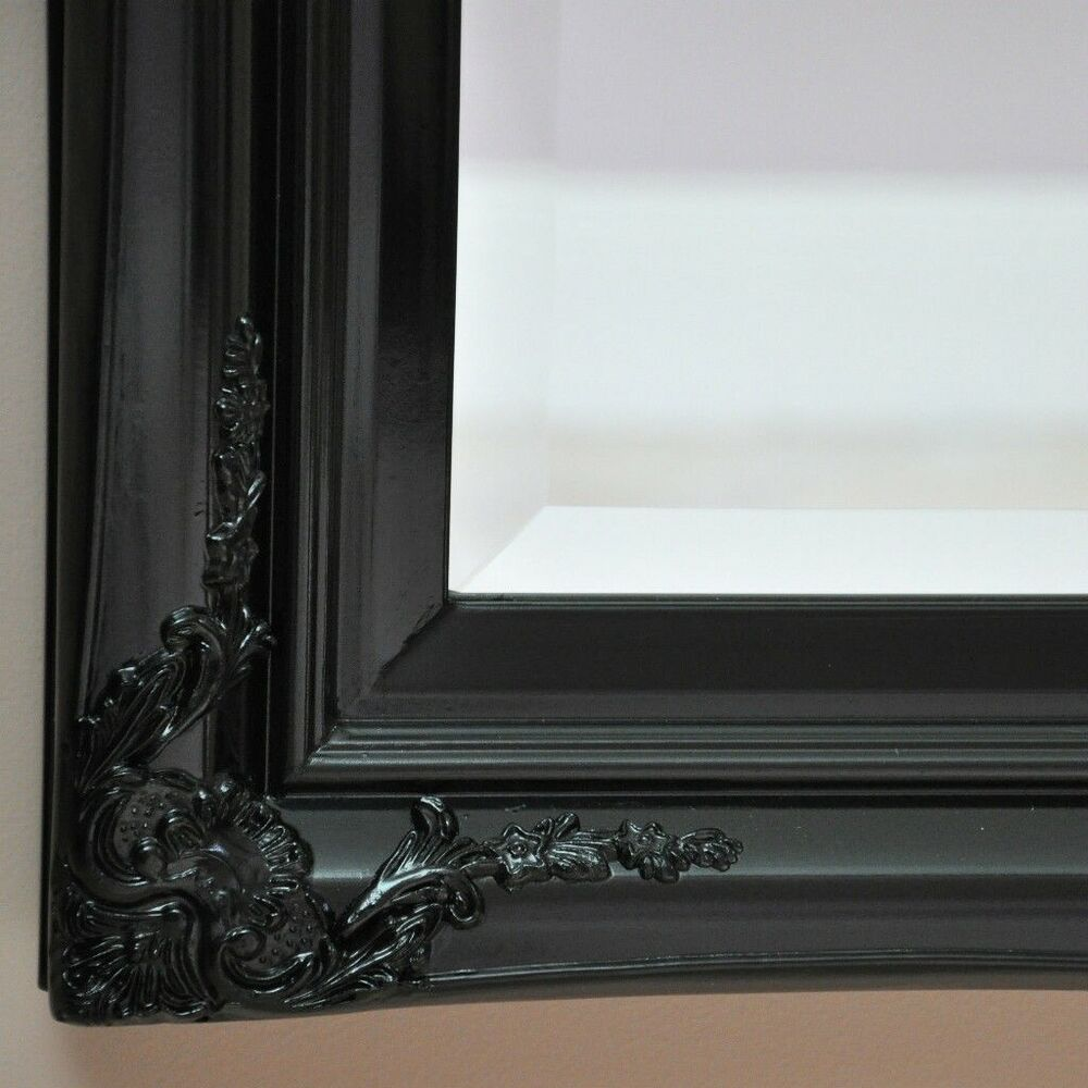 Quot Julianne Quot Wall Mirror Gloss Black Gothic New Antique