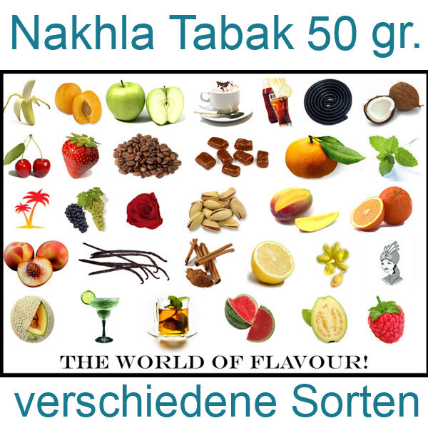 nakhla shisha tabak diverse sorten 50 gr f r wasserpfeife ebay. Black Bedroom Furniture Sets. Home Design Ideas