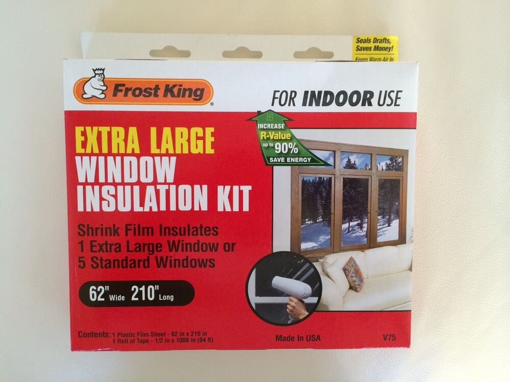 Frost king v75 62 x 210 window insulation kit extra for Window insulation kit