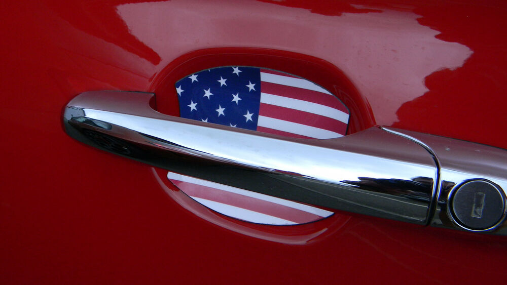 US FLAG AUTO ACCESSORY DOOR HANDLE PAINT SCRATCH COVER GUARD FIT ALL 4PK NEW