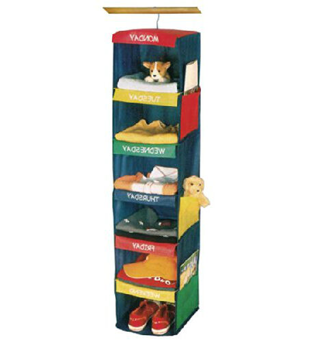 hanging closet organizer closet organizer rotate multi color 6 shelf hanging 28901