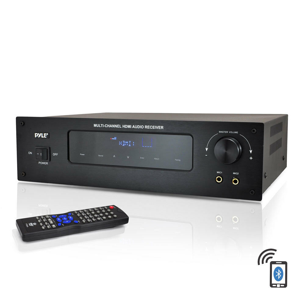 pyle bluetooth 5 1 channel hdmi digital stereo receiver. Black Bedroom Furniture Sets. Home Design Ideas