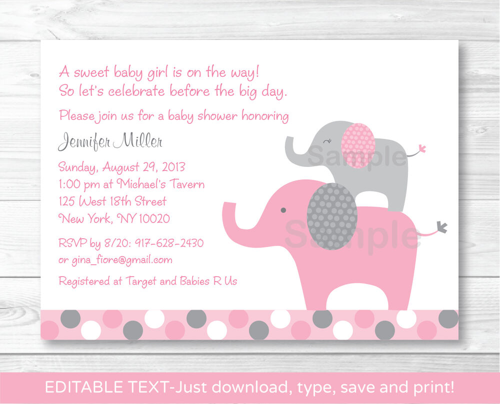 Pink Safari Baby Shower Invitations is amazing invitations design
