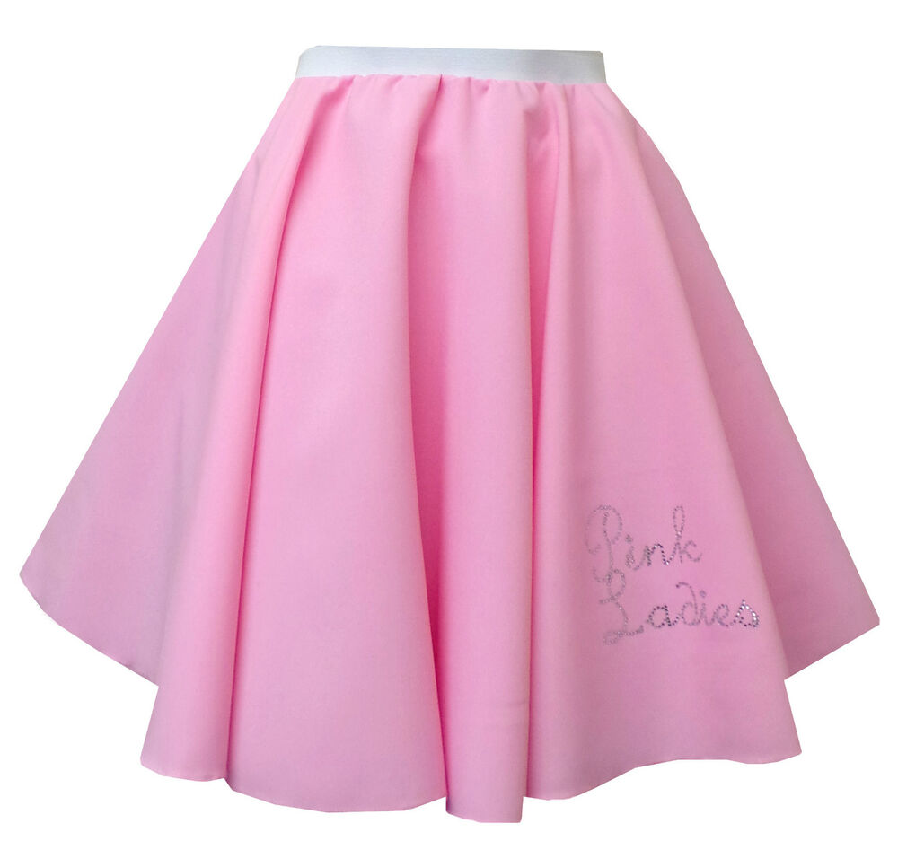 Rock And Roll Pink Women Skirt 1950s Grease Jive Fancy