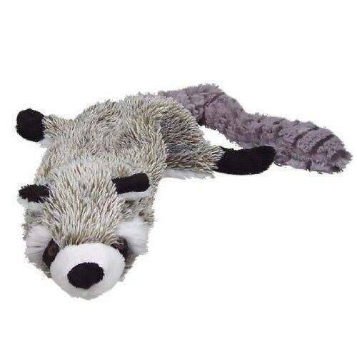 Skinneeez unstuffed dog toy stuffing free Raccoon roadkill