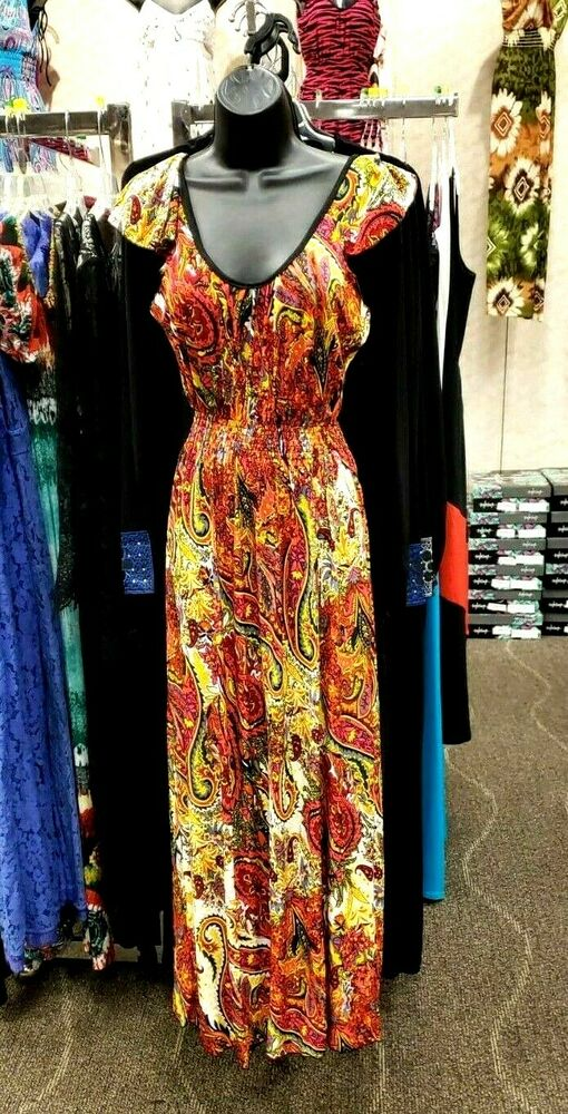 Excellent Womens Ladies Summer Boho Long Maxi Evening Party Holiday Beach Cotton Dresses | EBay