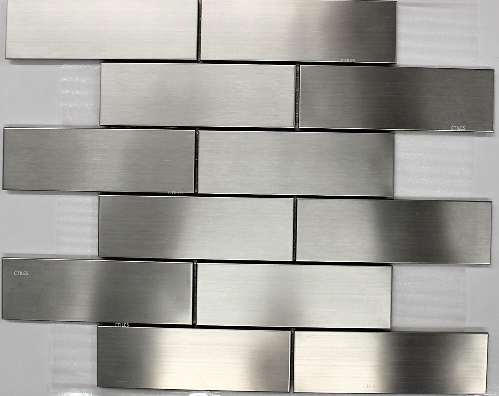 Subway Stainless Steel Mosaic Tile Backsplash Tiles