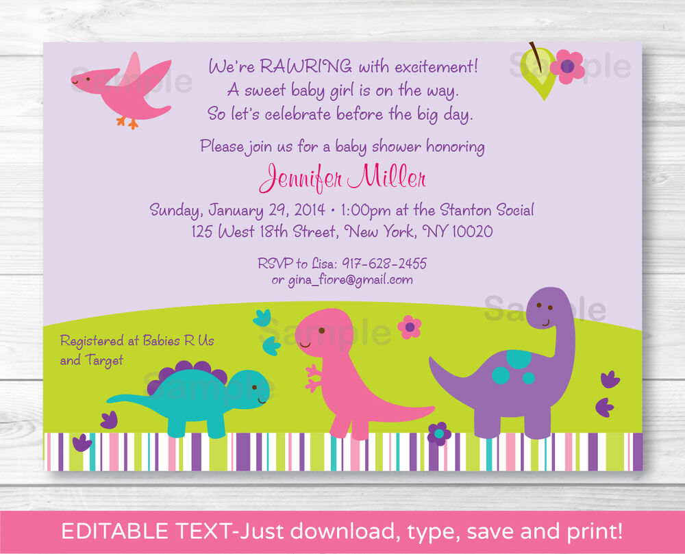 This is a picture of Hilaire Printable Baby Shower Invitations Girl