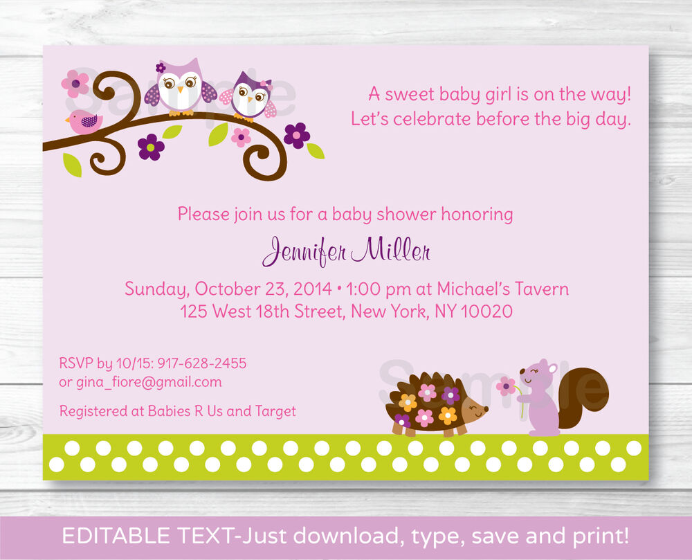 Owl Baby Girl Shower Invitations for great invitations ideas