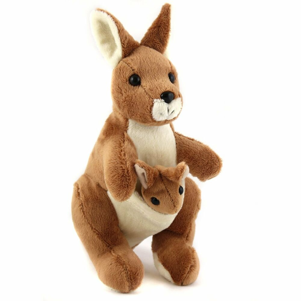Soft Animal Toys : Cm kangaroo with joey cuddly soft toy animal suitable