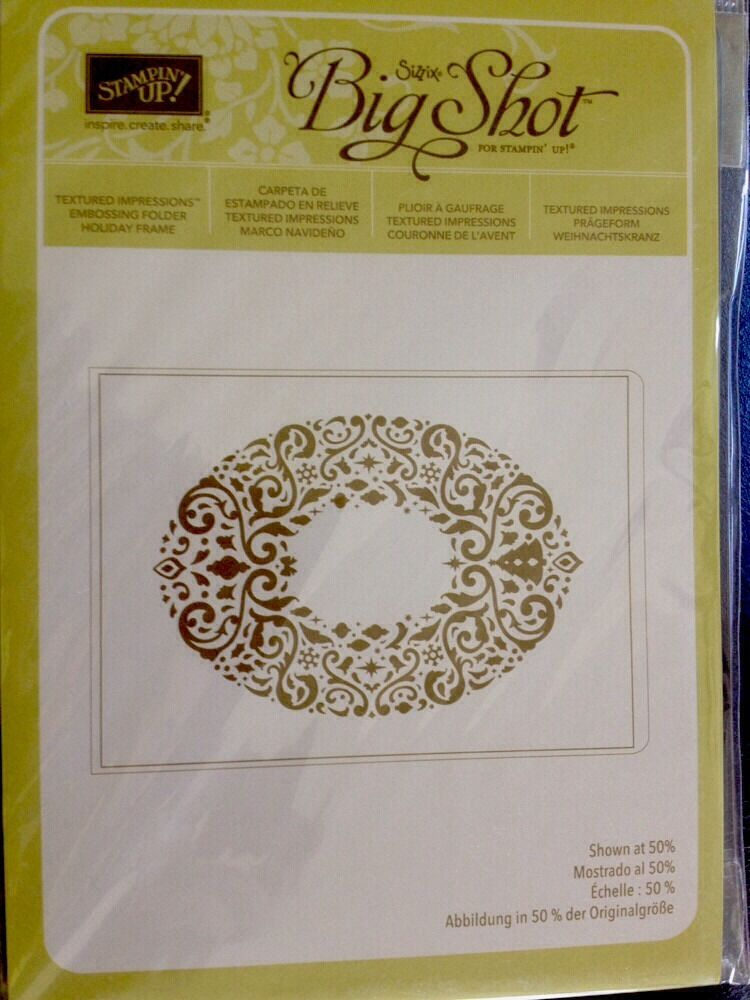 "Sizzix ""Big Shot HOLIDAY FRAME Textured Impressions ... Happynurse"