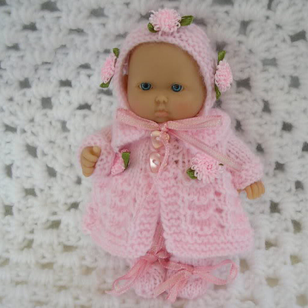 Knitting Patterns For Berenguer Dolls : Creative Dolls Designs Knitting Pattern Matinee set For 5