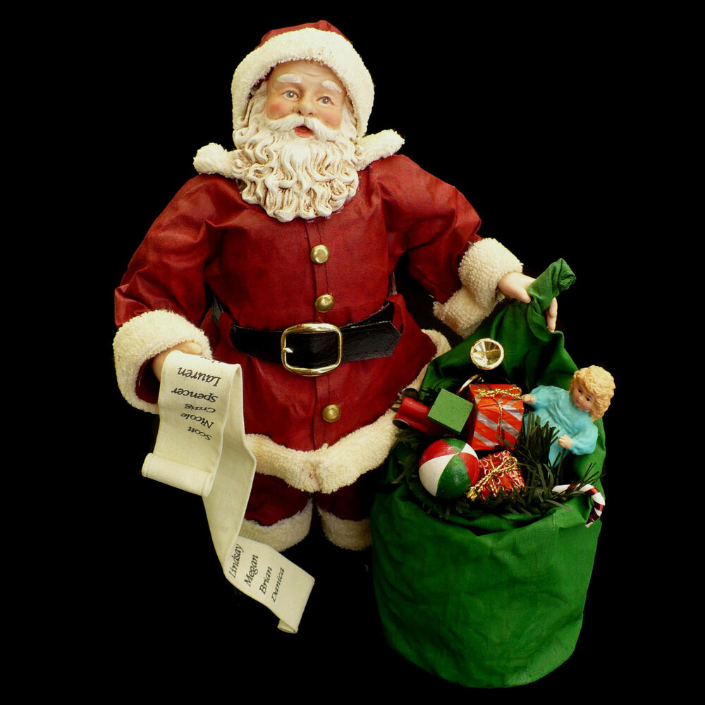 Santa claus figure toy sack san francisco music box