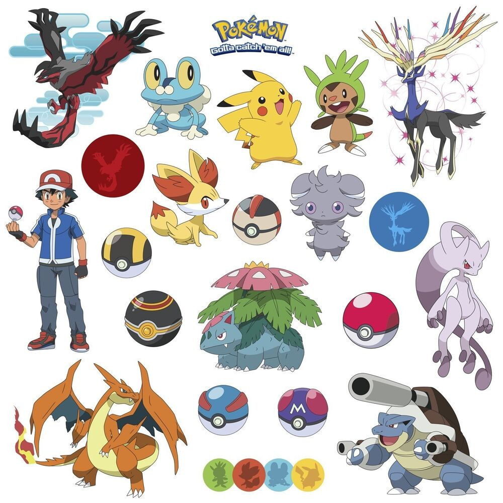 POKEMON XY 24 Wall Decals Room Decorations Pikachu