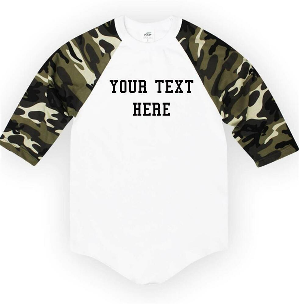 Nw personalized custom 3 4 sleeve baseball t shirts raglan for Custom t shirts design your own
