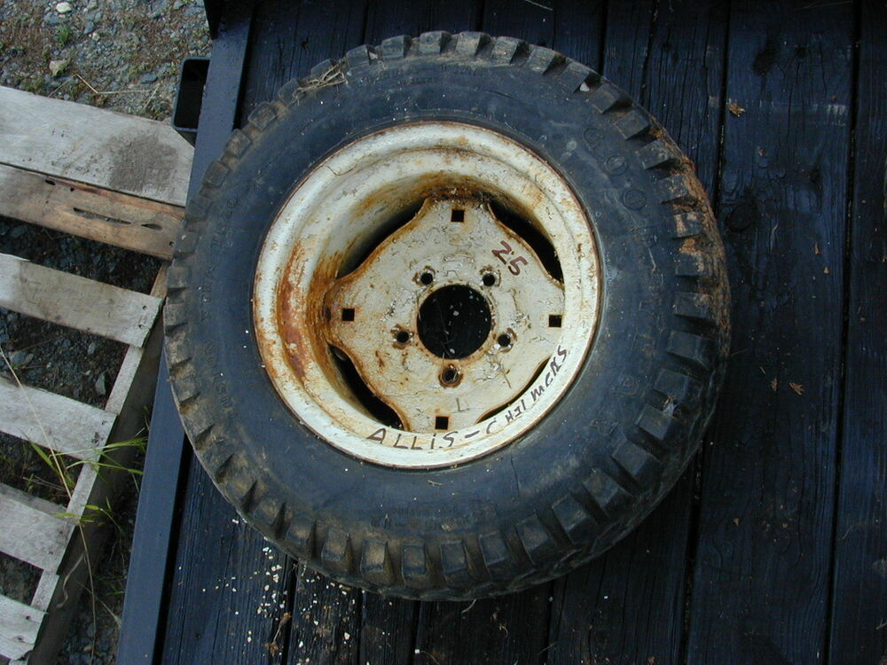 Lawn Tractor Rear Rims : Allis chalmers simplicity riding lawn mower rear tire