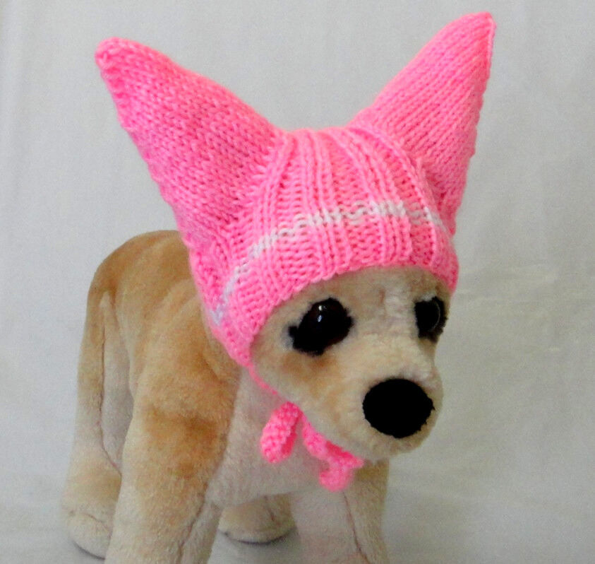 Knitting Pattern For Small Dog Hat : Pet Clothes Apparel Outfit Crochet Handmade Knit Hat for Small Dog XXS XS S ...