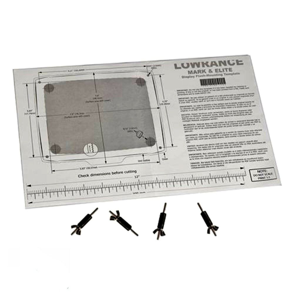 lowrance flush mount kit elite 5 hdi 5m 5x hdi. Black Bedroom Furniture Sets. Home Design Ideas