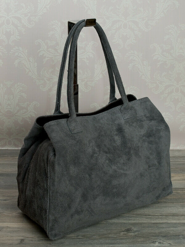 shopper grau wildleder