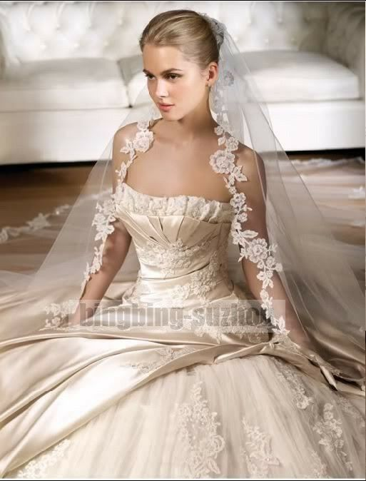 2014 white ivory wedding dress bridal gown custom size 2 for White or ivory wedding dress