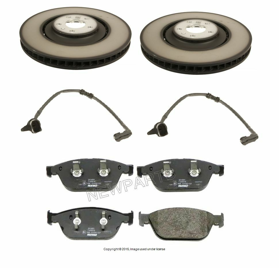 new audi a8 quattro 4 2l v8 2011 2012 genuine front brake kit discs pads sensor ebay. Black Bedroom Furniture Sets. Home Design Ideas