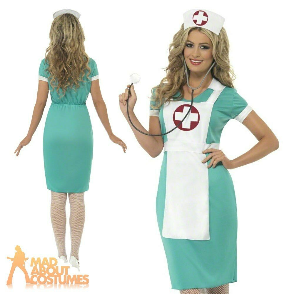 Scrub Nurse Uniform Costume Womens Doctor Adult Fancy