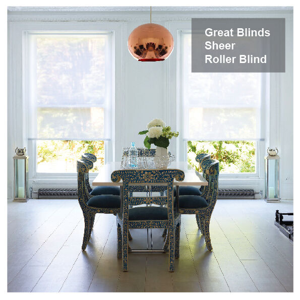 Made To Measure Sheer Privacy Roller Blinds Voile Roller