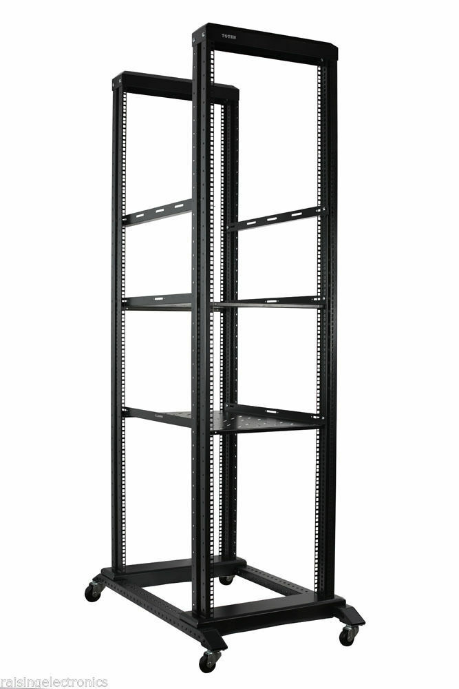 42u Open Frame Network Server Rack 1000mm Deep 4 Post