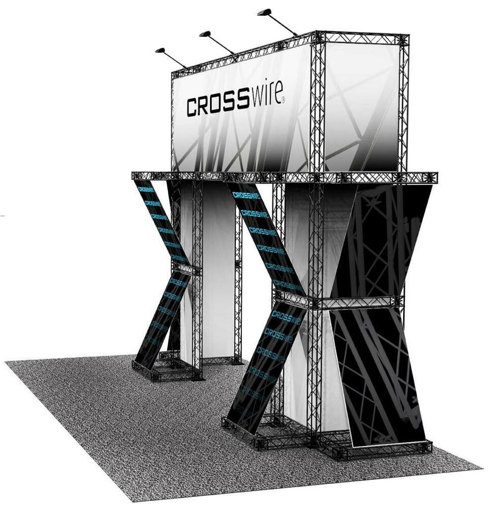 Fabric Exhibition Stand Design : Portable trade show truss display  exhibit booth