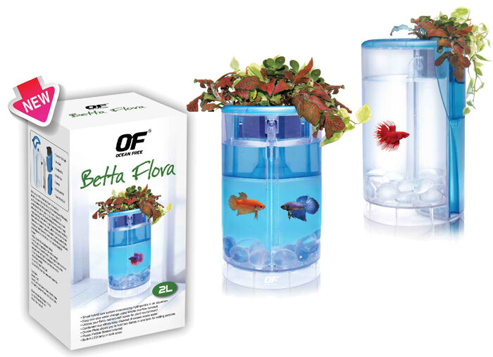Ocean free of betta flora hydroponics aquarium tank ebay for Oceanic fish tanks