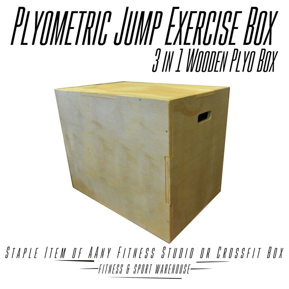 Wooden 3 In 1 Plyo Box Wood Plyometric Jump Box For Crossfit Gym