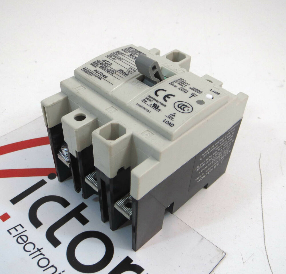 Mitsubishi Circuit Breaker Nf30 Auto Electrical Wiring Diagram Nf30cs 3 Amp 2 Pole 220v Ebay Used No
