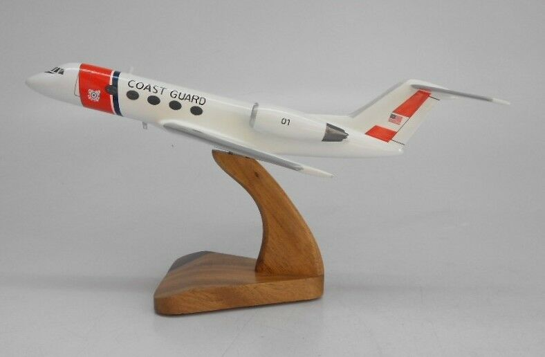 Grumman Gulfstream Ii Coast Guard Aircraft Wood Model Free