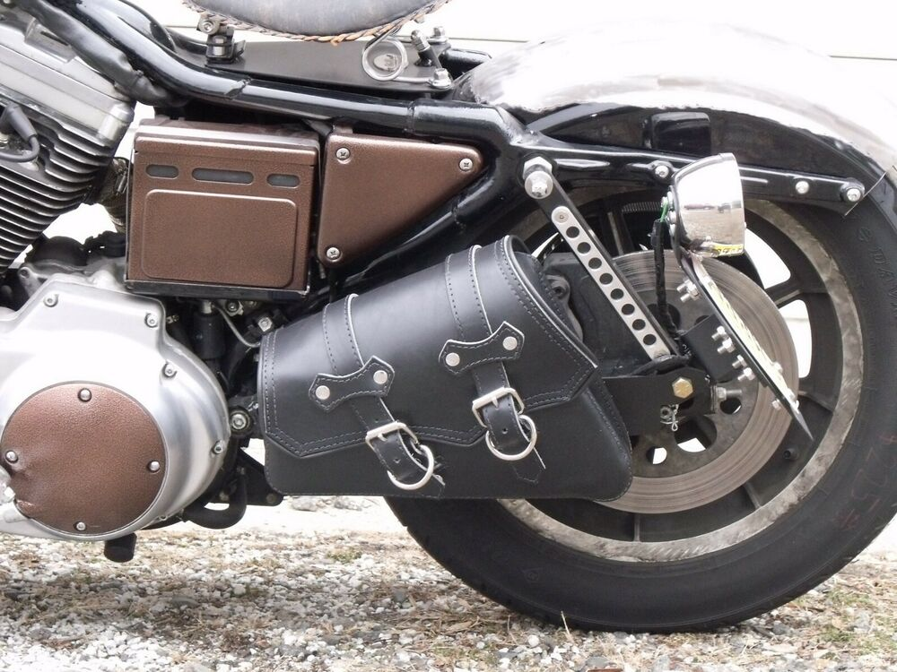 Package Deal Swingarm Bag Hard Mount W Leather Solo Bag