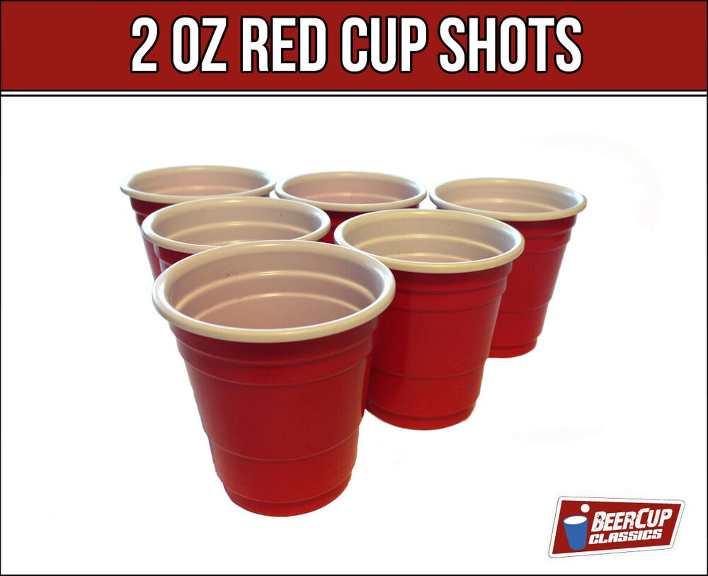 red cup shots schnapsgl ser 2oz 5cl beer pong becher party. Black Bedroom Furniture Sets. Home Design Ideas