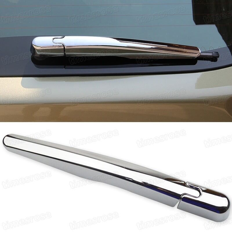 chrome rear tail window wiper cover trim molding for ford. Black Bedroom Furniture Sets. Home Design Ideas