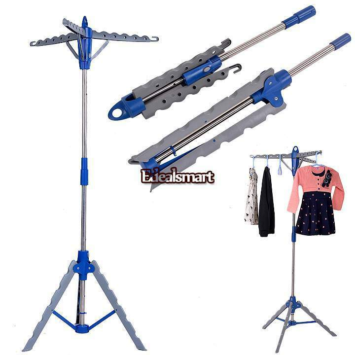 Laundry Rack Tripod Clothes Drying Hanger Dryer